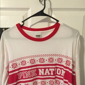 Pink Christmas long sleeve size L